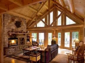 katahdin log homes one with nature rustic living room dc metro by