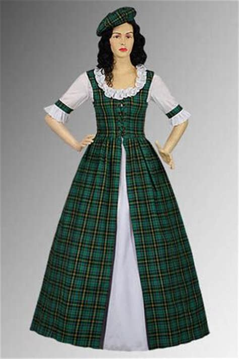 Handmade Renaissance Costumes - details about scottish tartan two traditional dress