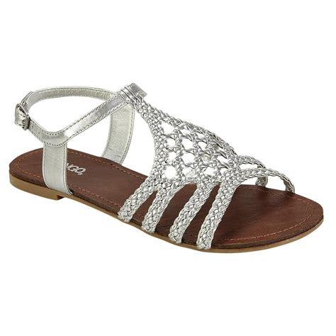 sandal bali alifa 10 bongo s bali braided flat sandal silver