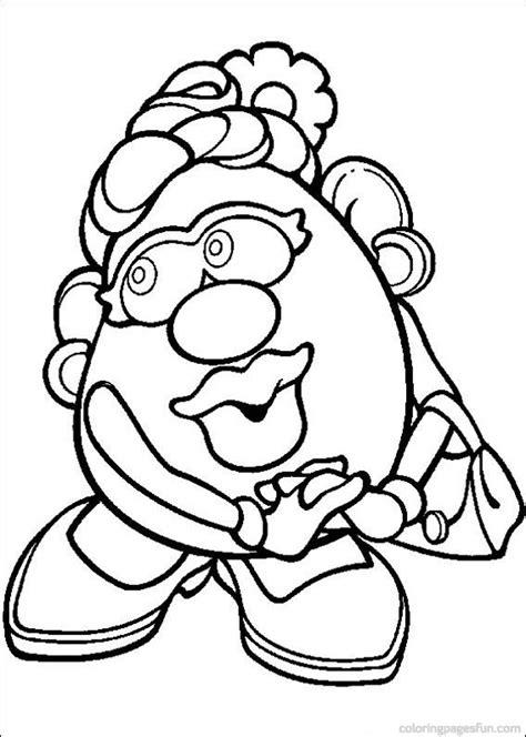 Coloriage Madame Patate Les Beaux Dessins De 224 Imprimer Mrs Potato Coloring Pages