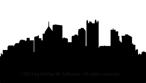 pittsburgh skyline silhouette dpi free images at clker