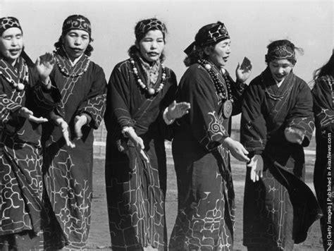 Ainu Japan vintage everyday photos of ainu