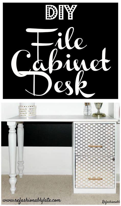diy desk with file cabinets best 25 file cabinet desk ideas on filing