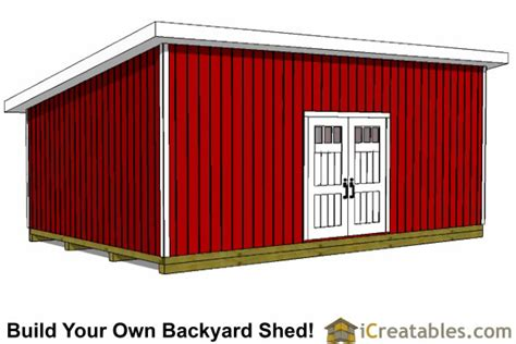 16 X 24 Shed Plans by 16x24 Lean To Shed Plans Large Lean To Shed Plans
