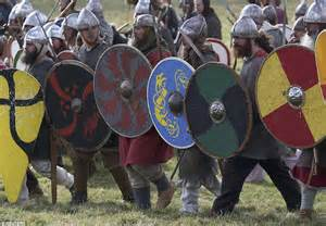 battle  hastings  enactors stage fight