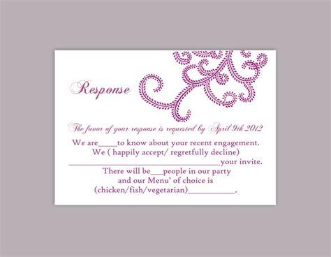 rsvp template word diy wedding rsvp template editable word file