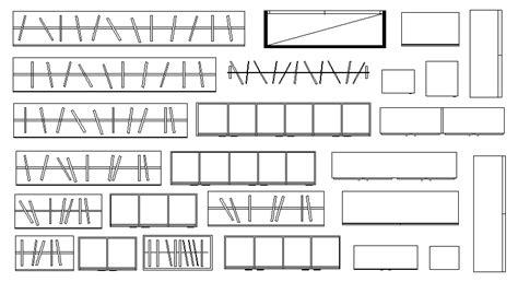 libreria cad librer 237 as de bloques autocad muebles armarios en planta