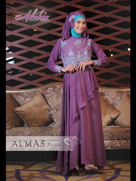 Baju Pesta Adzkia almas by adzkia purple baju muslim gamis modern