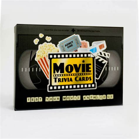 film quiz cards movie trivia cards from gift republic