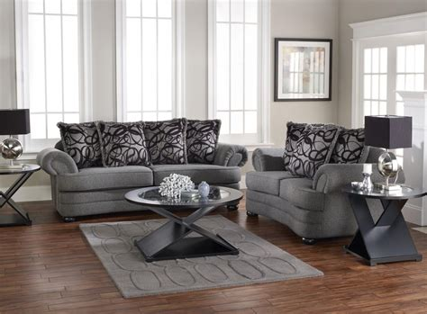 Living Room Design With Gray Sofa Displays Comfort And Grey Furniture Living Room