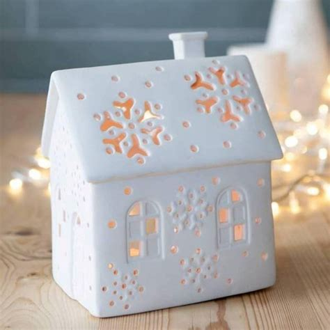 white house christmas tea light holder