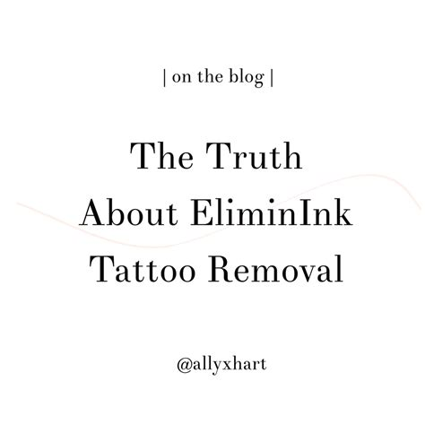 eliminink tattoo removal my skin