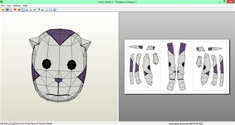 Anbu Mask Papercraft - anbu mask 3 papecraft by sibor270898 on