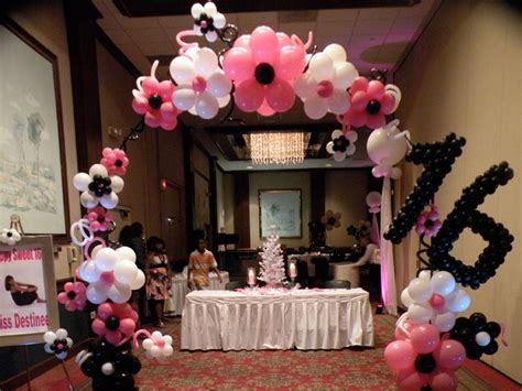 sweet 16 decoration ideas home party decor knoxville parties balloons above the
