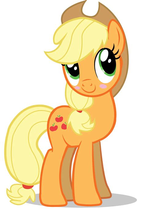 apple jack mlp applejack blushing mlp my little pony friendship