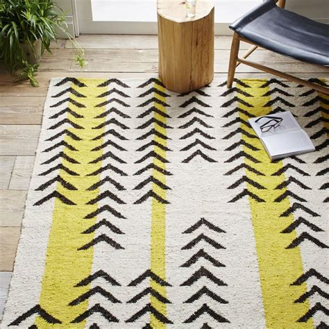Striped Dhurrie Rugs by The Color Yellow Decor Options For