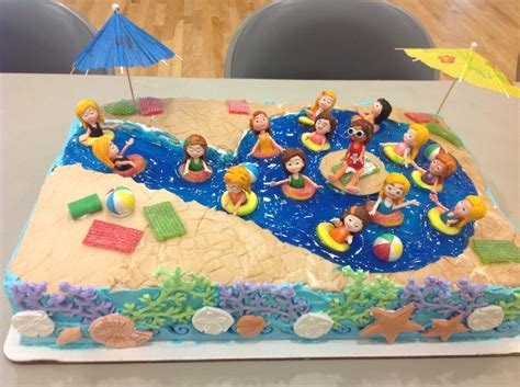Pool Cake Decorations by Swimming Pool Cake Birthday Cakes Swimming