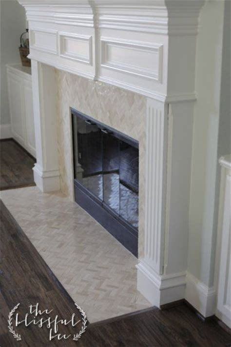 Peel And Stick Tile Around Fireplace by 25 Best Diy Fireplace Makeovers Herringbone Dollar Tree And Mantles