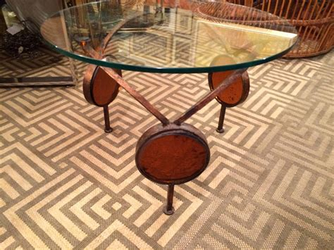glass blowing bench gilt iron and blown glass artisan table for sale at 1stdibs