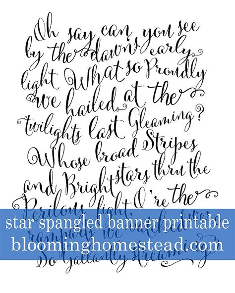 printable version of star spangled banner 17 images about printables on pinterest valentines