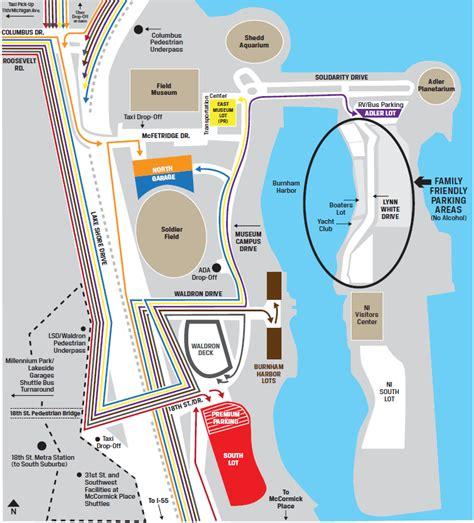 Soldier Field Parking Garage by Chicago Bears Parking Your Guide To Soldier Field Parking