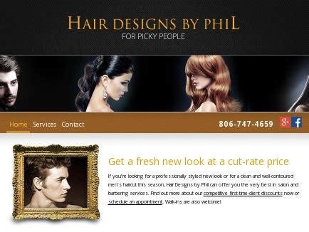 hair designs by phil stylists barbers lubbock tx
