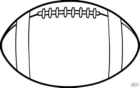 American Football Ball Coloring Page Free Printable Printable Football Coloring Pages