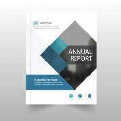 Cover Page For Annual Report Template by Annual Report Template For Business Vector Free