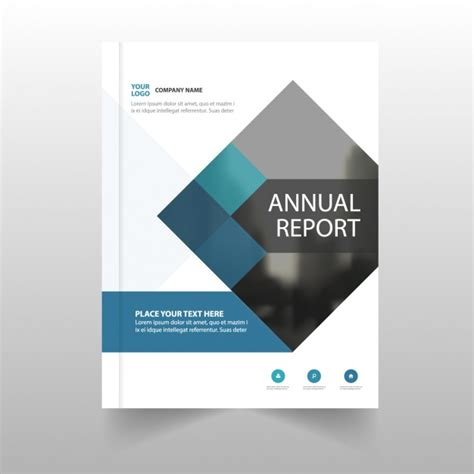 cover page for annual report template annual report template for business vector free