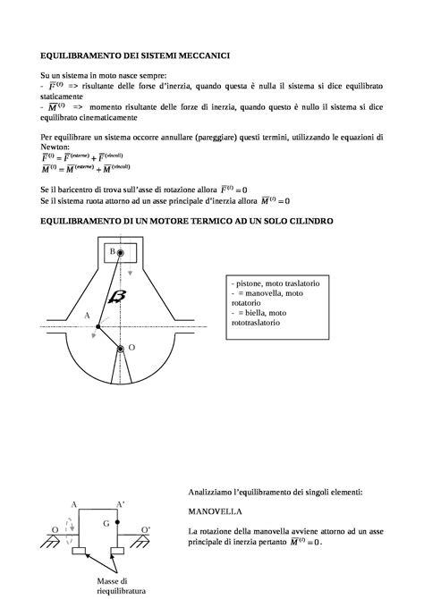 progettazione meccanica dispense meccanica dinamica dei sistemi meccanici