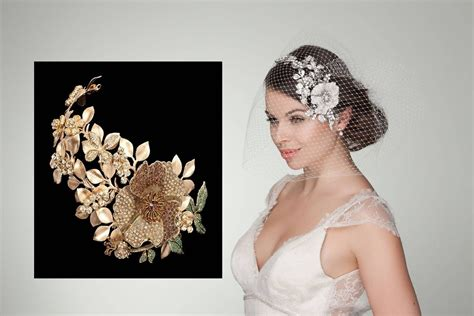 Vintage Wedding Hair Accessories Uk by Browne Golden Garden Gold Wedding Headband