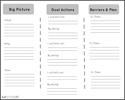Goal Worksheets by 9 Best Images Of Personal Goal Worksheet Printable
