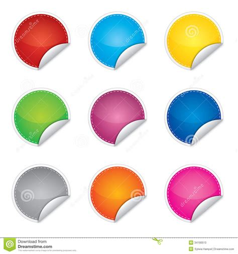 promotion color price promotion or bestseller vector blank sticke stock