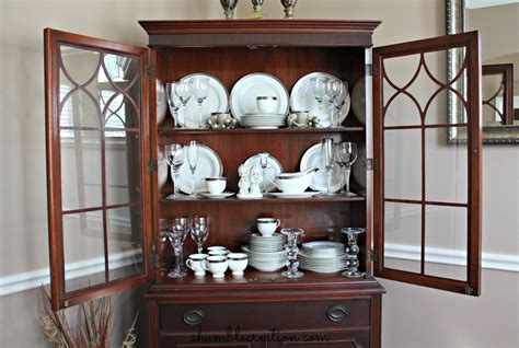 how to organize a china cabinet a second picture of how to arrange my dining cabinet a