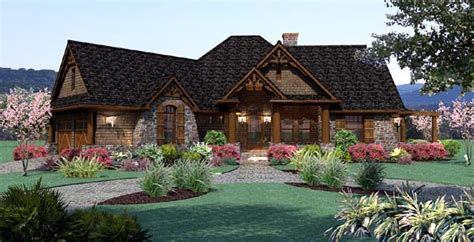 Cottage Craftsman Ranch Tuscan House Plan 65867 Tuscan Cottage House Plans