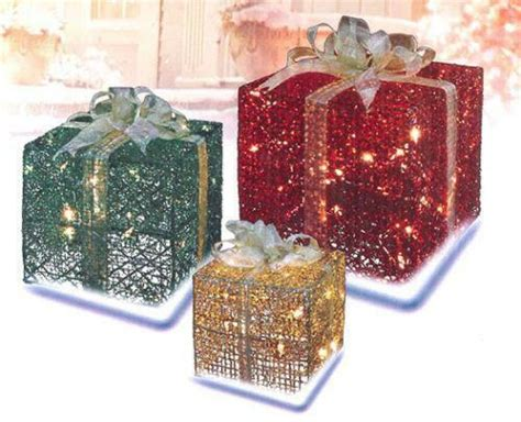 how to make a wire christmas gift box on pinterest lighted gift boxes ebay