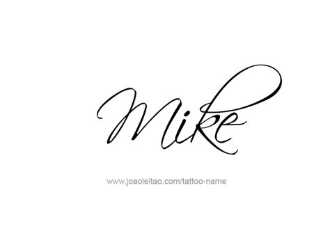 mike name tattoo designs