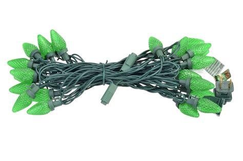 25 green led c7 commercial outdoor string lights 16 6ft