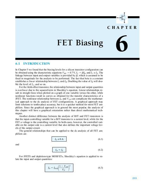 transistor fet slideshare fet biasing