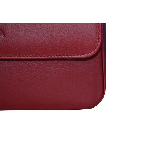 Burgundy Leather by Burgundy Leather Clutch Bag Real Leather Studio