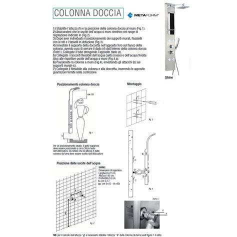 colonna doccia niagara metaform colonna doccia shine