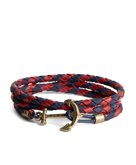Brooks brothers Kiel James Patrick Leather Wrap Bracelet in Multicolor for Men   Lyst