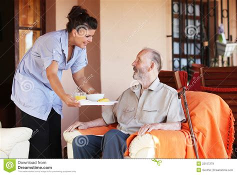Elderly Home Care by Senior Home Care Royalty Free Stock Images Image 22157279