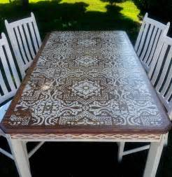 Poly Picnic Tables Lisboa Tile Stencil Beautiful Dining Sets And Stencils