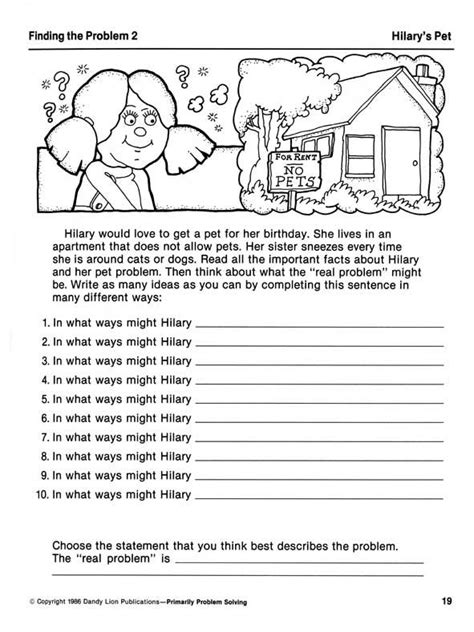 printable problem solving games for adults printable problem solving worksheets bing images