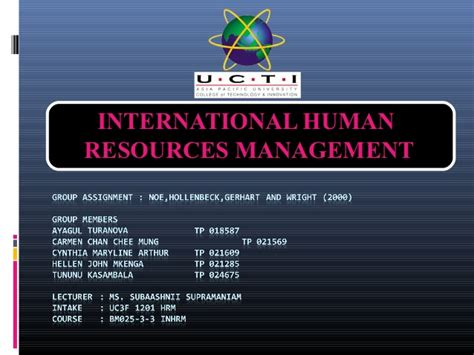 Mba Human Resource Management New York by Ihrm Assignment 2