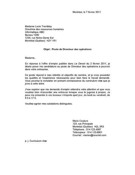 Exemple De Lettre De Présentation Stage resume format lettre d introduction cv