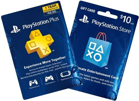 Ps4 Online Gift Card - 1 year ps plus 10 ps gift card ps3 ps4 digital code best real games