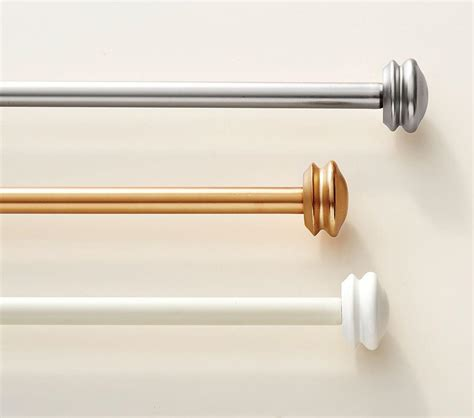 aluminium curtain rods metal endcaps curtain rods