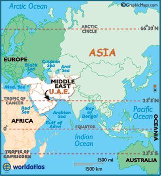 Dubai On World Map by United Arab Emirates Map Geography Of United Arab